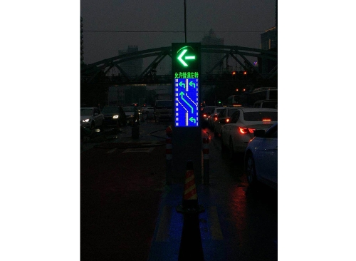 Traffic induced LED display
